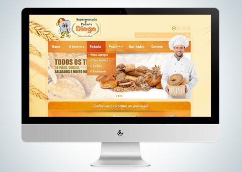 Website Padaria Diogo